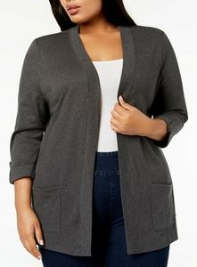 NEW KAREN SCOTT PLUS SIZE 1X CARDIGAN SWEATER